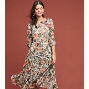 Espalier Embroidered Tunic Dress Meadow Rue